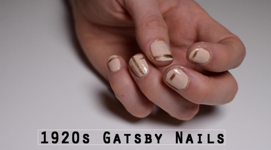 1920s gatsby inspired nails here is a very simple and wearable 1920s great gatsby inspired nail art click on the video at the bottom of the page for a quick and easy tutorial prinsesfo Images