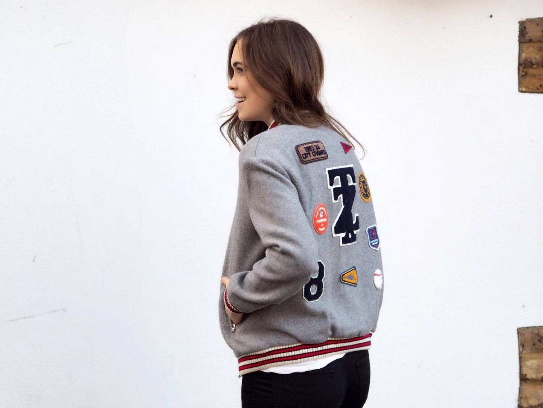 How To Wear A Letterman Jacket   Megan Taylor
