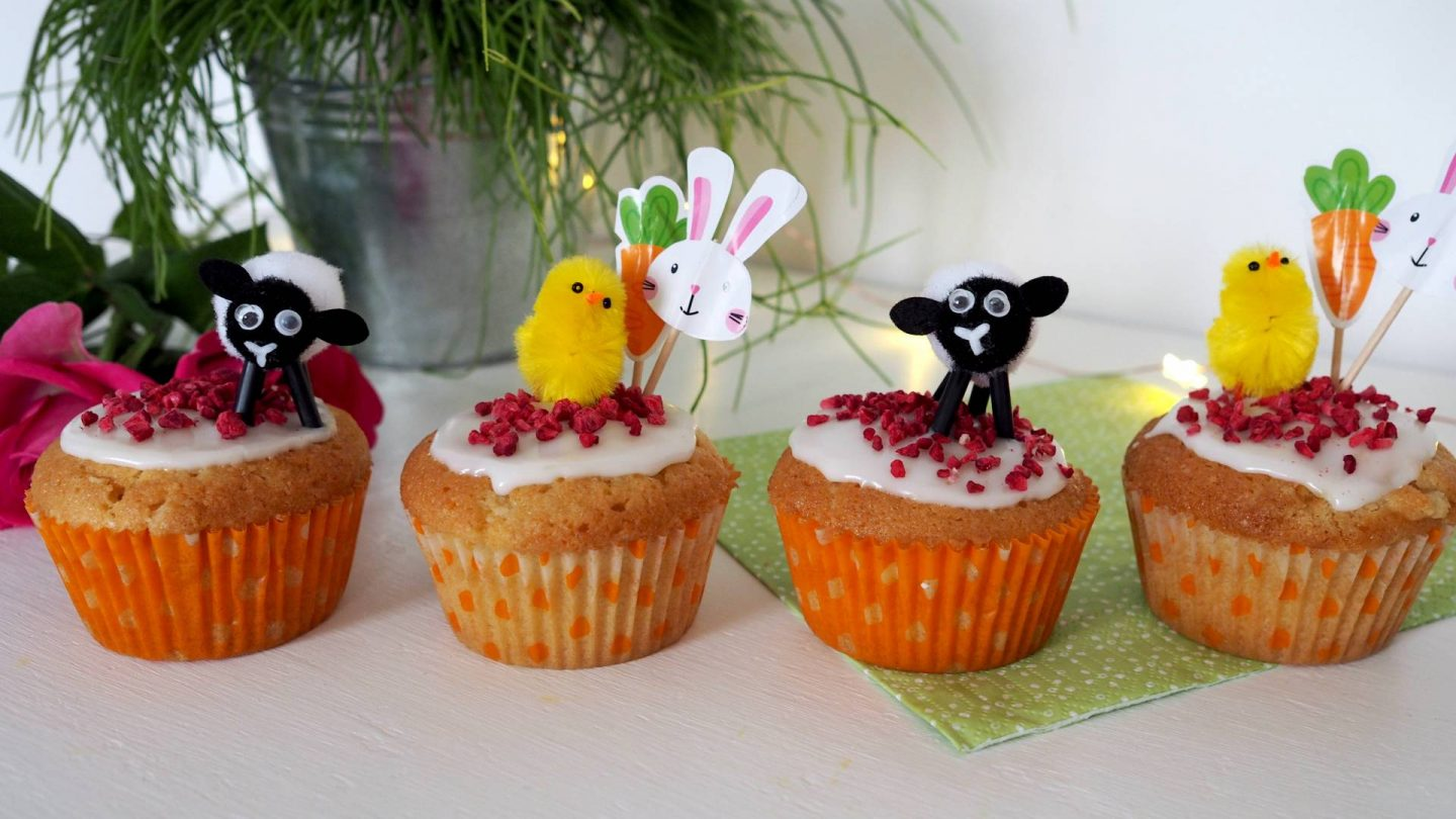 Lemon Drizzle Raspberry Surprise Easter Cupcakes